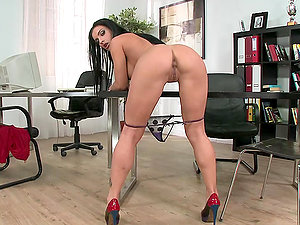 She's A Demon For Faux-cock When In The Office