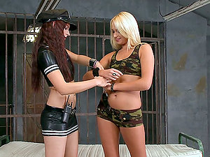 Two Lezzy Prisoners Fuck Hard In Their Cell