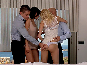 Hard  foursome is a good experience for hot Anastasia Devine