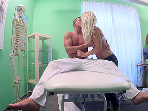 Horny doctor decides to fuck his patient Clea Gaultier on the bed