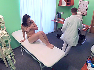 Chris QK gets fucked by hard doctor's boner on the hospital's bed