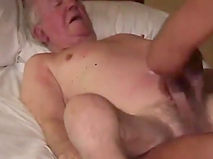 Mature gay and young guy fuck on the couch