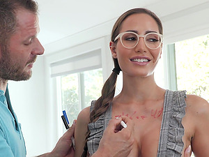 Desiree Dulce adores sex in all different poses with a dude