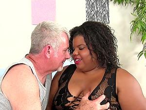 Ebony BBW Peaches Love Interracial Anal