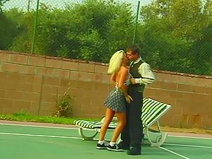 Sporty Blonde Mom Fucks Young Tennis Boy