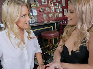 Nikki Peach and Candice Dare share friend's dick for the best cum