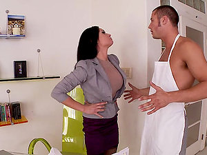 Tory Lane gargles a manstick and gets her vagina fucked every which way