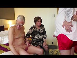 Shemale and mature granny and grandpa porn video