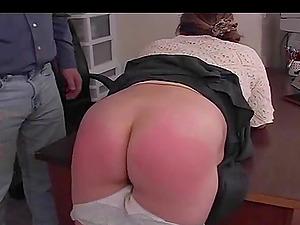 BBW MILF in panties passed her casting in the office