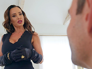 Busty brunette Lisa Ann loves to fuck badly with her handsome lover