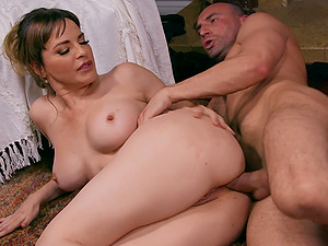 After dick eating Dana Dearmond can't wait to jump on a hard pecker
