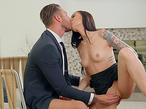 After sucking Marley Brinx is ready to jump on a dude's sticky dick