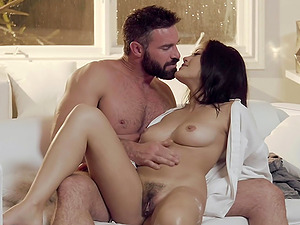 Hairy pussy Kendra Spade needs friend's lond cock for amazing orgasm