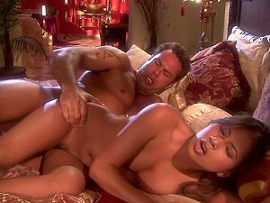 Unshaved and horny Nyomi Marcela gets her cunt fucked by a dude