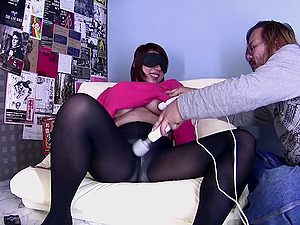 Brunette Asian Cocomi gets her unshaved pussy pleased by her friend