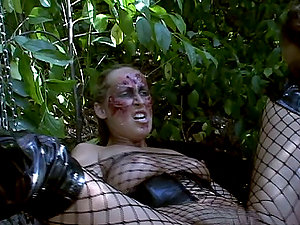 Mandy Bright and Maria Bellucci have fun kinky games in the garden
