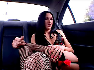 Dark Haired Doll Can't Wait To Get Home To Fuck