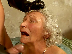 Trampy grandma Norma gets fiercely fucked in a jail