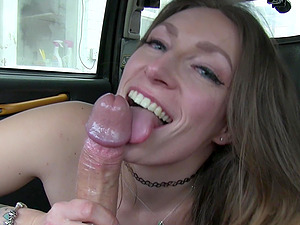 Ava Austen makes a deal with the taxi driver. Pussy for a cab fare