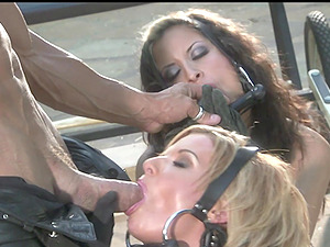 FFM threesome with Latina babes Cassie Courtland and August Night