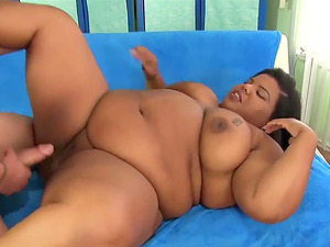 Ebony BBWs enjoy their pussies being fucked deep and good by hard dicks