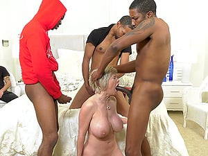 Massive interracial gangbang for whore of a wife Dee Williams