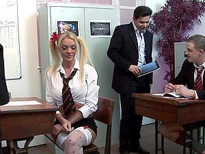 Foursome sex with pornstars Cate Harrington and Antonia Deona