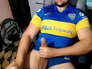 Str8 military guy plays with his big dick