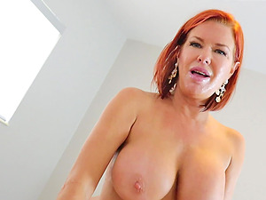 Redhead slut Veronica Avluv stretches her asshole with a buttplug
