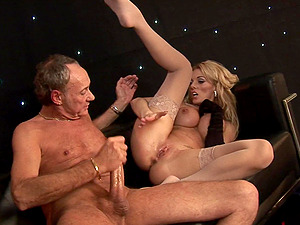 Blonde model Antonia Deona fucked hard by a fat cock and spayed with cum