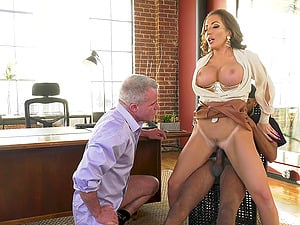 Blonde milf Richelle Ryan fucked by a black dude in front of husband