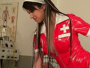 Skank Clad As Nurse Gets Fucked