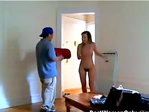 Sexy Hairy Cute Flash The Pizza Guy Hidden Cam