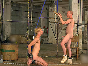 Amateur gay torture session with two skinny best friends. HD