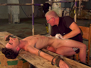 Amateur dick torture and shaving by a mature pervert for his slave