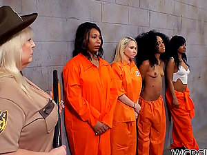 Cell Block G/g Fuck-a-thon Session with Two Horny Dark-hued Inmates