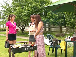 Incredible Japanese Lezzy Outdoors Hook-up with Beautiful Damsels