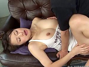 Kaede Niiyama Slurped and Fucked and Takes Jizm on Her Hooters