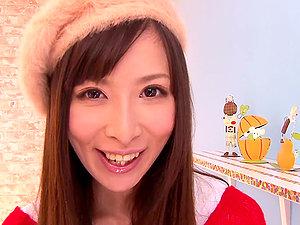 Impressively Beautiful Japanese Honey Moeka Nomura Sucking Off a Jizz-shotgun