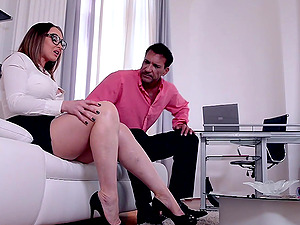 Passionate fucking and feet licking with desirable Yasmin Scott