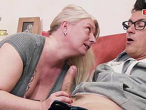 German ugly chubby mom seduces guy