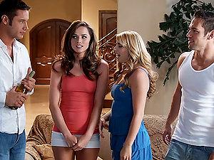 Three Strikingly Sexy Stunners Having Fucky-fucky in Three Different Scenes