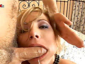 Going knuckle deep a Blonde's Arse Before Pumping and Fucking Her Vulva