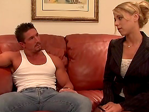 Quickie fucking in the office with cock hungry boss Katie Morgan