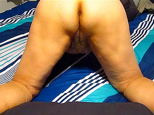 Wife trademark her big voluptuous ass and big furry pussy.