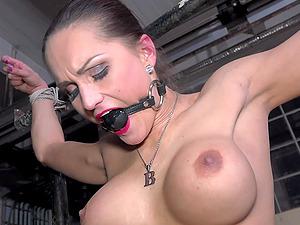 Pornstar Barbara Kysivics tied up and tortured by a pervert