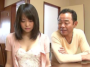 Japanese nurse in a romp health center gives a hot display