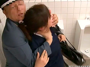 Amazing Japanese lifts her mini-skirt up and gets fucked
