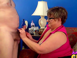 Video of an old guy getting pleasured by his dirty wife Judith