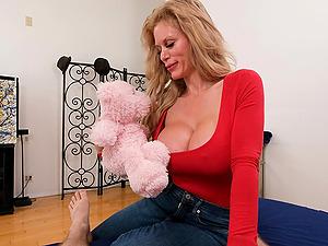 POV video of mature slut Casca Akashova eating cum after sucking dick